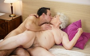 Hairy Mature Kissing