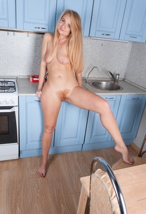 Hairy Blonde Mature Pussy